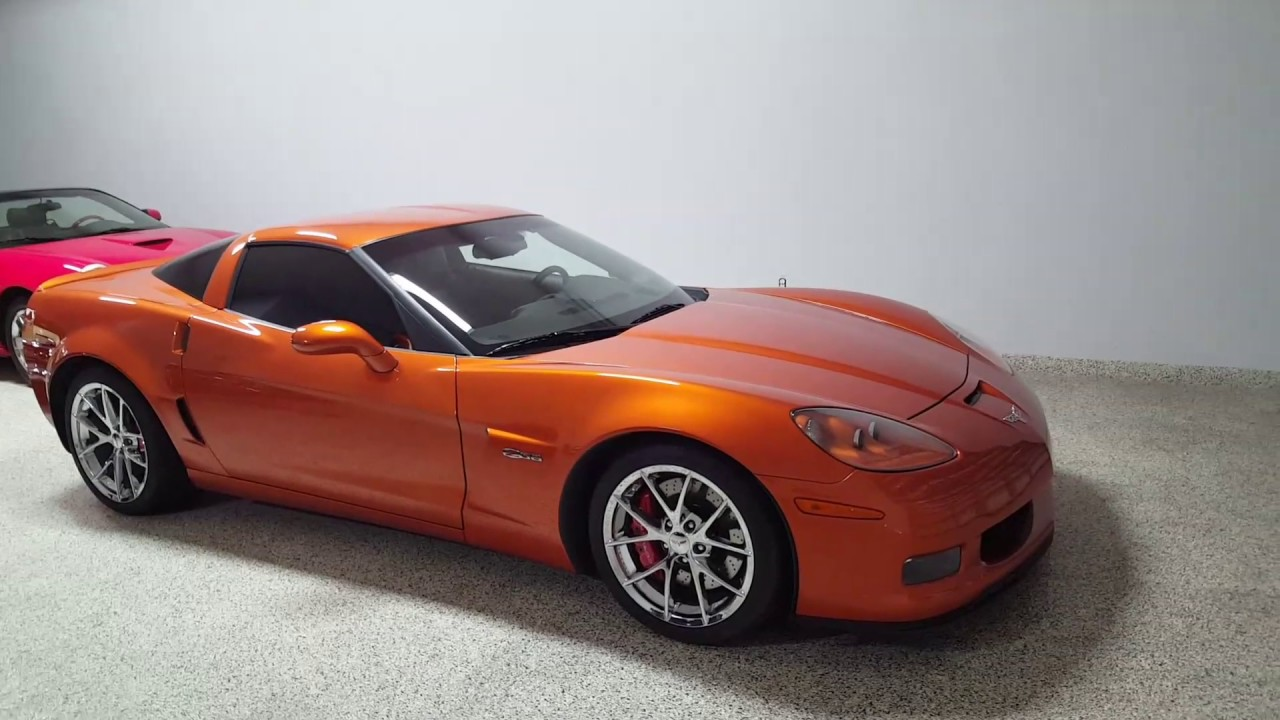 Chevy Corvette 2009 Z06 Atomic Orange Metallic 6500 Miles