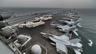 South China Sea tension: Pentagon chief visits US carrier in disputed sea, blames China