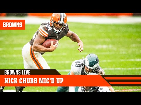 Nick Chubb Mic'd Up vs Eagles