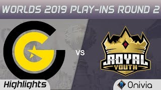CG vs RY Highlights Game 2 Worlds 2019 Play in Round 2 Clutch Gaming vs Royal Youth by Onivia