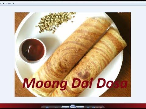 Green Moong Dal Dosa/Pesarattu dosa recipe by Raks Kitchen - YouTube
