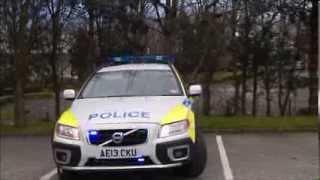 northumbria police volvo xc70 arv blue lights