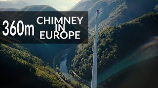 Wspinaczka na najwyższy komin w Europie | 360 metrów | DRON