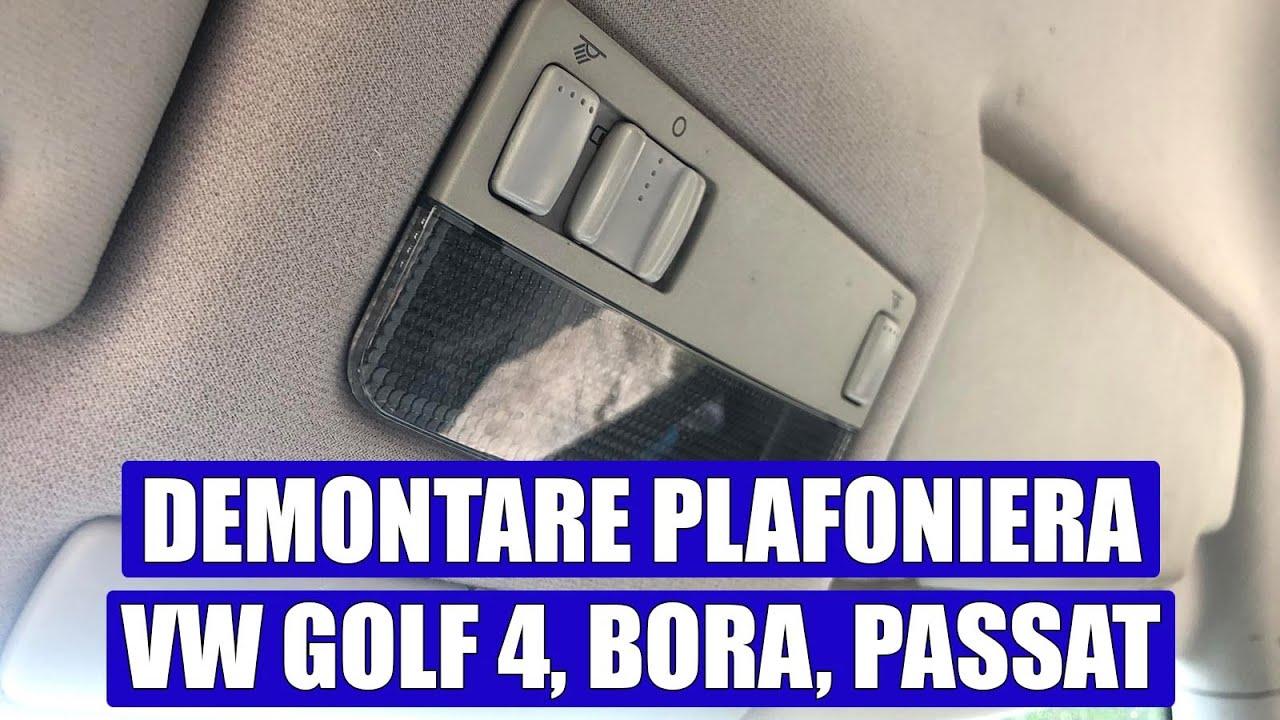 Plafoniera Camper 12v : Tutorial cum se scoate desface plafoniera la vw golf mk