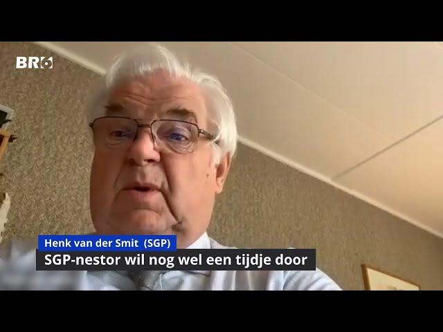 SGP-nestor Henk van der Smit wil nog wel een tijdje door