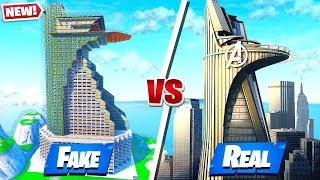 SECRET AVENGERS TOWER DESTROYED in Fortnite Battle Royale!