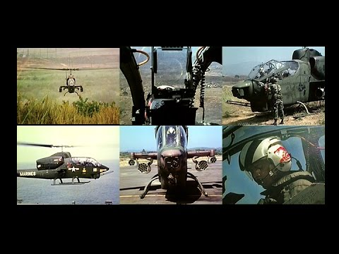 U.S. Marine's Bell AH-1 Sea Cobra Attack Helicopter Combat Capabilities (1982 Restored )