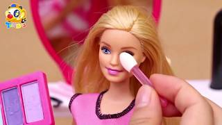 | Barbie's Fashion Show | Barbie Makeup | Kids Toys Story | baby doll kids toys |