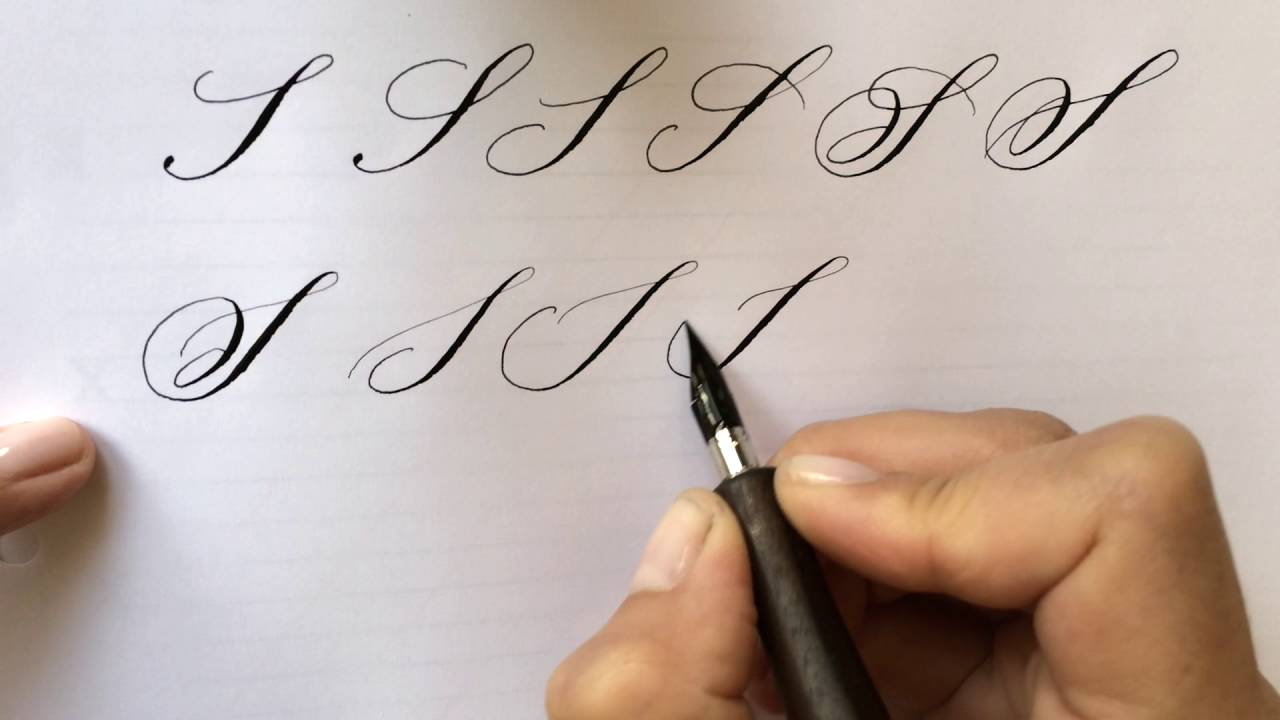 Modern calligraphy letter quot s youtube