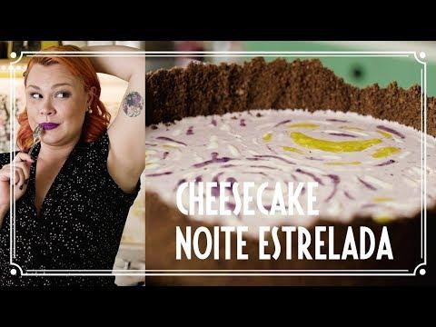 Cheesecake de mirtilo (Van Gogh) - ARTE NA COZINHA