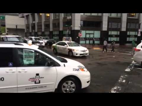 Boston taxi drivers protest uber