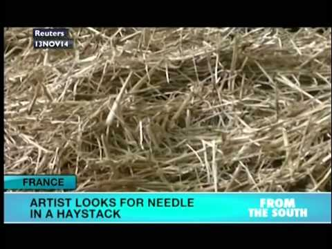 Italian artists searches for a needle in a haystack
