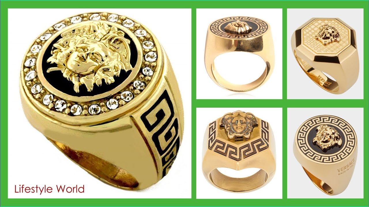 Best Versace Gold Ring Mens 2018 Top Ring Jewelry For Men Youtube