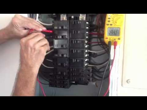 Check Voltage on Single Phase Panel - YouTube