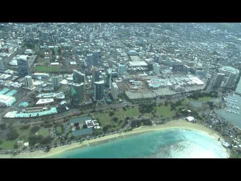 Honolulu - Molokai Flight by Mokulele Airlines Waikiki view