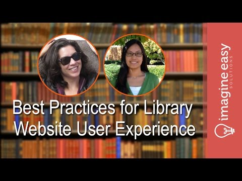 PD Series: Best Practices for Library Website User Experience