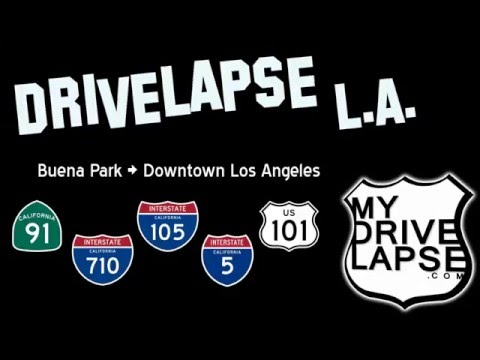 Buena Park to Downtown Los Angeles: 91, 710, 105, 5, 101