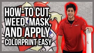 How To Weed, Mask and Apply ColorPrint Easy