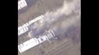 الحربي الروسي  يقصف هنكارات اسلحة و مصانع متفجرات للارهابيين في حلب و الغوطة الشرقية