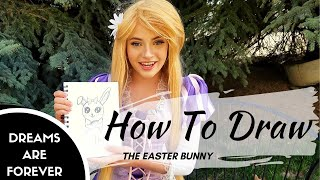 How To Draw: The Easter Bunny with Rapunzel - Easter Fun