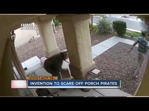 New invention available to scare off porch pirates