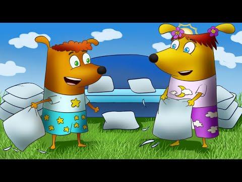 Щенки Бублик и Кисточка - мультики для детей   Мультики для маленьких малышей   3 самых лучших серий