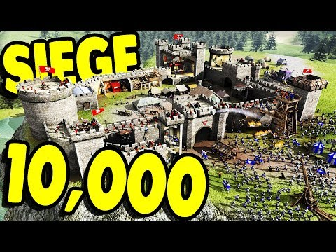 HUGE Castle Siege SIMULATOR | Stronghold 2 Steam Edition Gameplay