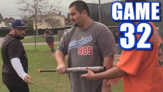 SOUP\'S UNIQUE BAT FLIP! | Offseason Softball League | Game 32
