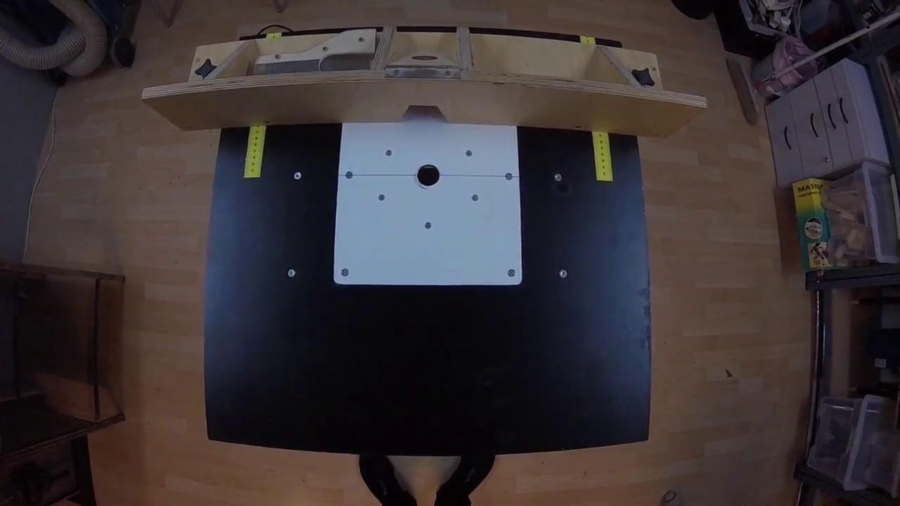 mobile tischfräse /frästisch selber bauen, mit oberfräse bosch pof
