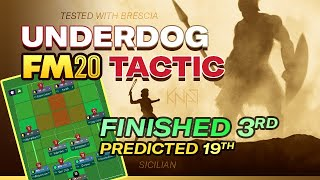 Underdog FM20 Tactic | From Relegation to Champions League! | Best Football Manager Tactics