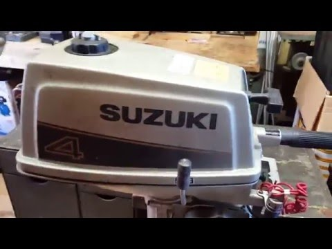 1988 Suzuki 4HP DT4 Carburetor Removal and Disassembly