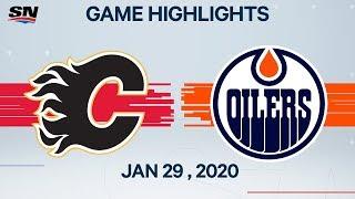 calgary Flames vs Edmonton Oilers  Jan.29, 2020  Game Highlights  NHL 2019/20  Обзор матча