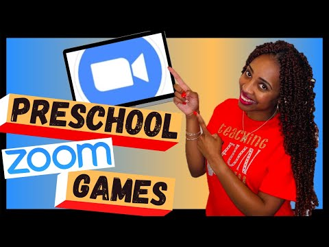 5 FUN ZOOM GAMES FOR PRESCHOOLERS: How to teach online for preschool learning