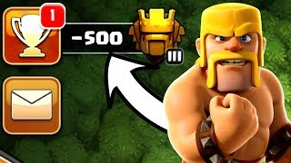 I GOT -500 TROPHIES TO MAX MY TOWN HALL 12! - Clash Of Clans