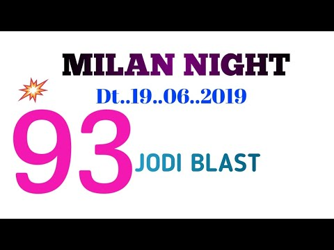 Repeat 26  06  2019  Milan night super strong fix game dhamaka by Rs