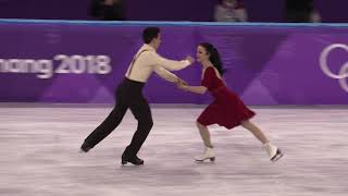 2018 Winter Olympics figure skating ice dance Free : Italian Ice dancer (4K)