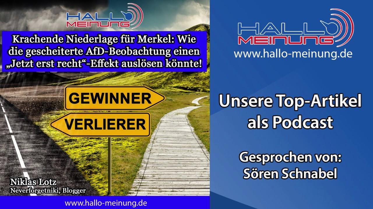 Podcast: Krachende Niederlage für Merkel!