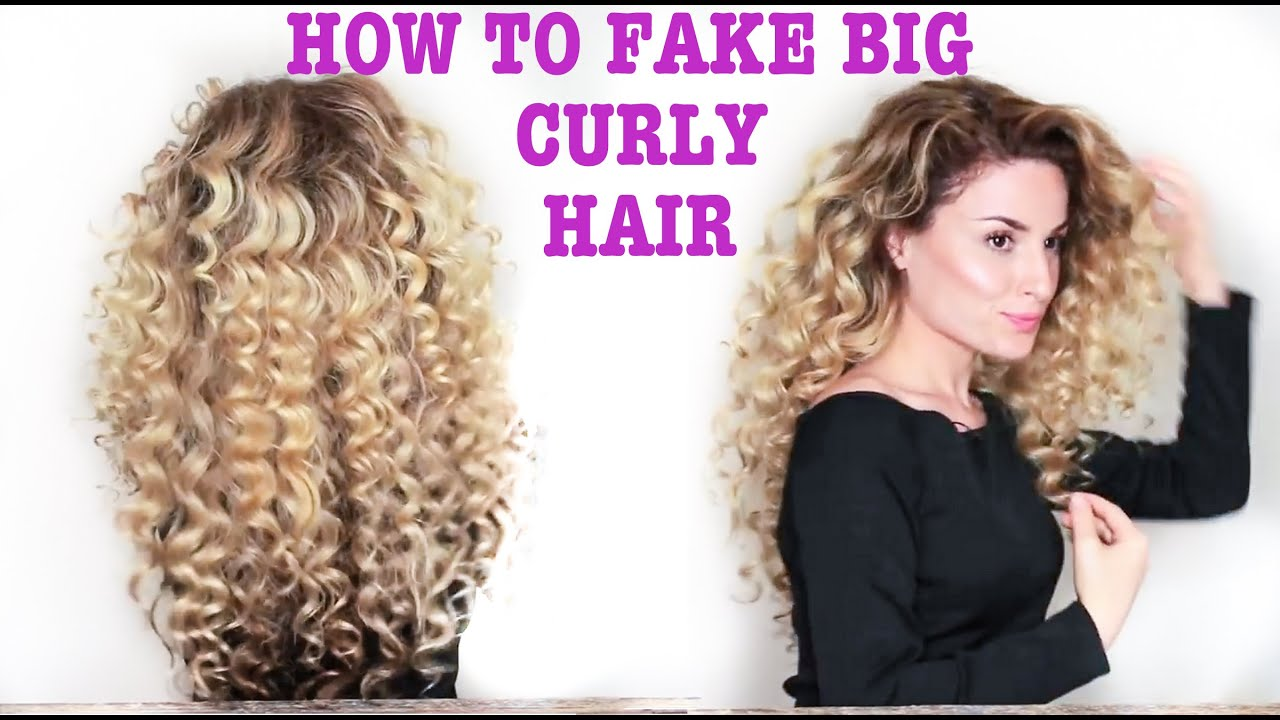 How To Fake BIG Naturally Curly Hair with subs