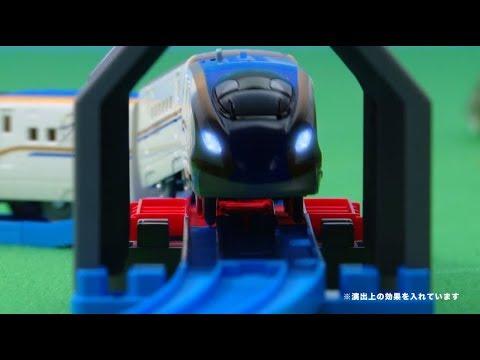 プラレールトンネルを照らそう!ライト付E7系新幹線かがやきベーシックセット