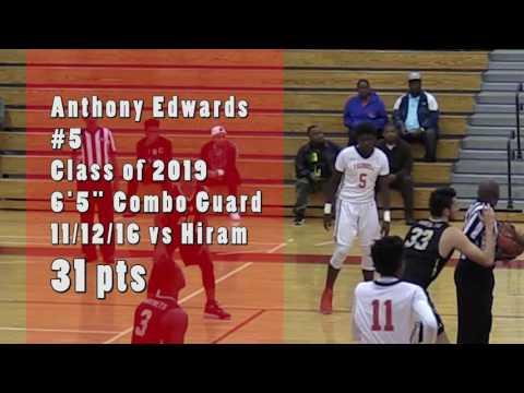 Anthony Edwards Combo Guard 2019. HE GOT NEXT