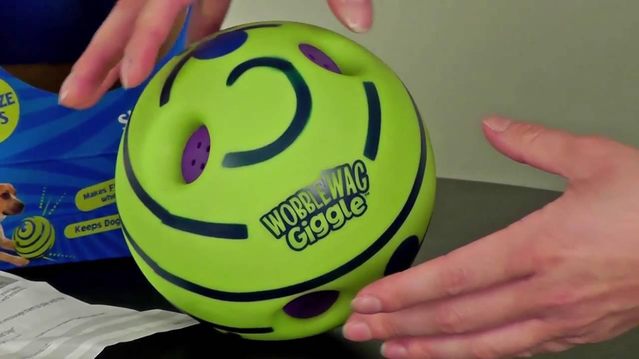 Хихикающий мяч для собак Wobble Wag Giggle, игрушка для щенков ...