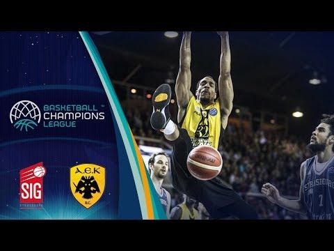 SIG Strasbourg v AEK - Full Game - Quarter-Finals - Basketball Champions League 2017-18