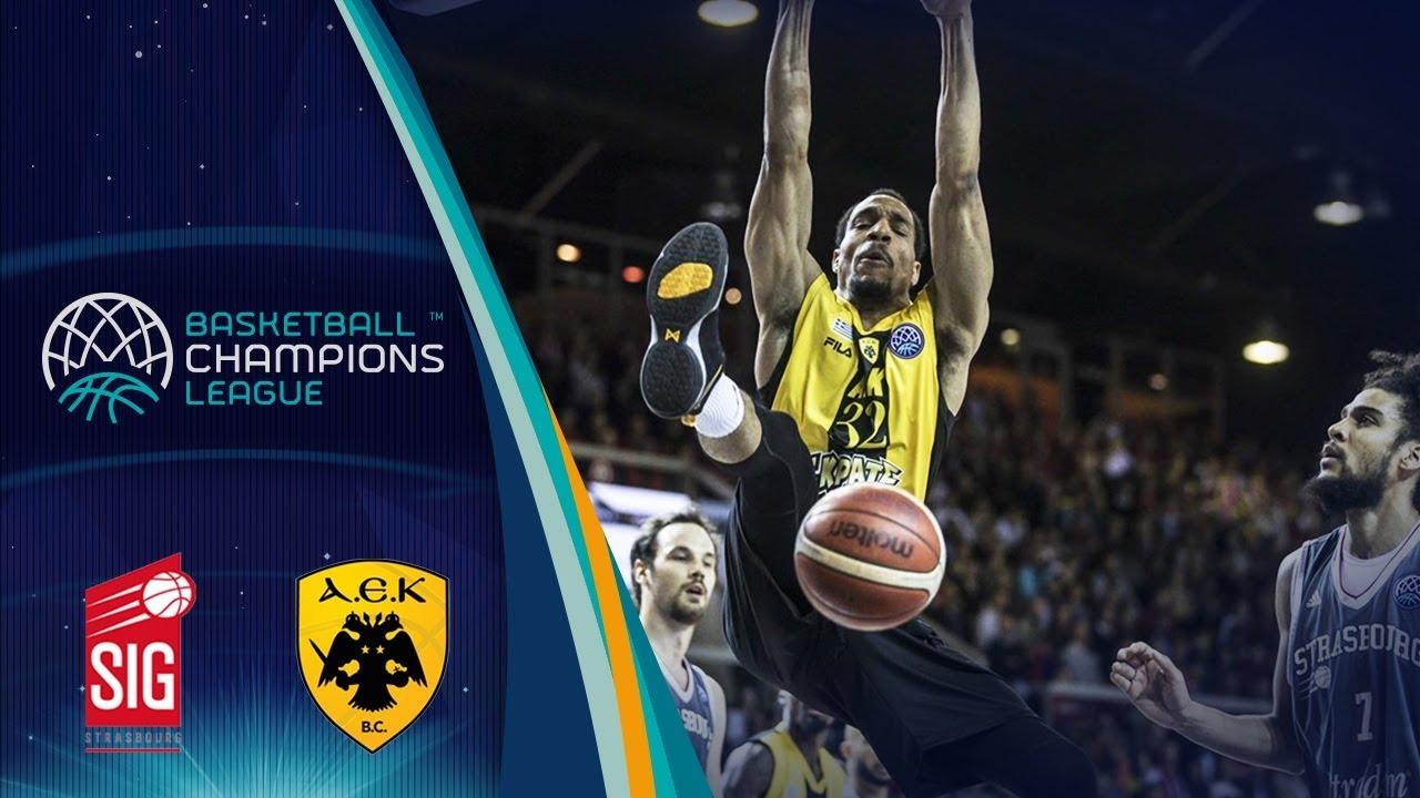 SIG Strasbourg v AEK - Full Game - Quarter-Finals - Basketball Champions League 2017