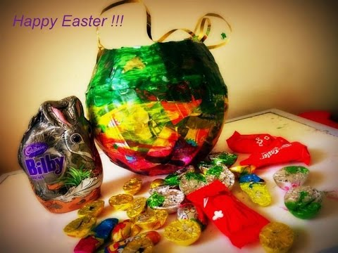 Diy paper bucket balloon craft easter recycle paper - Diy recycled paper crafts ...