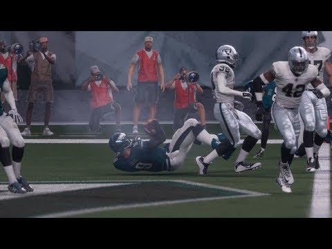 NFL Monday Night Football MNF 12/25 Philadelphia Eagles vs Oakland Raiders Full Game (NFL Madden 18)