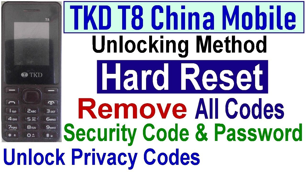 TKD T8 Mobile Hard Reset, Unlock Security Code, Password And Factory Reset  By Tahir Technical TV