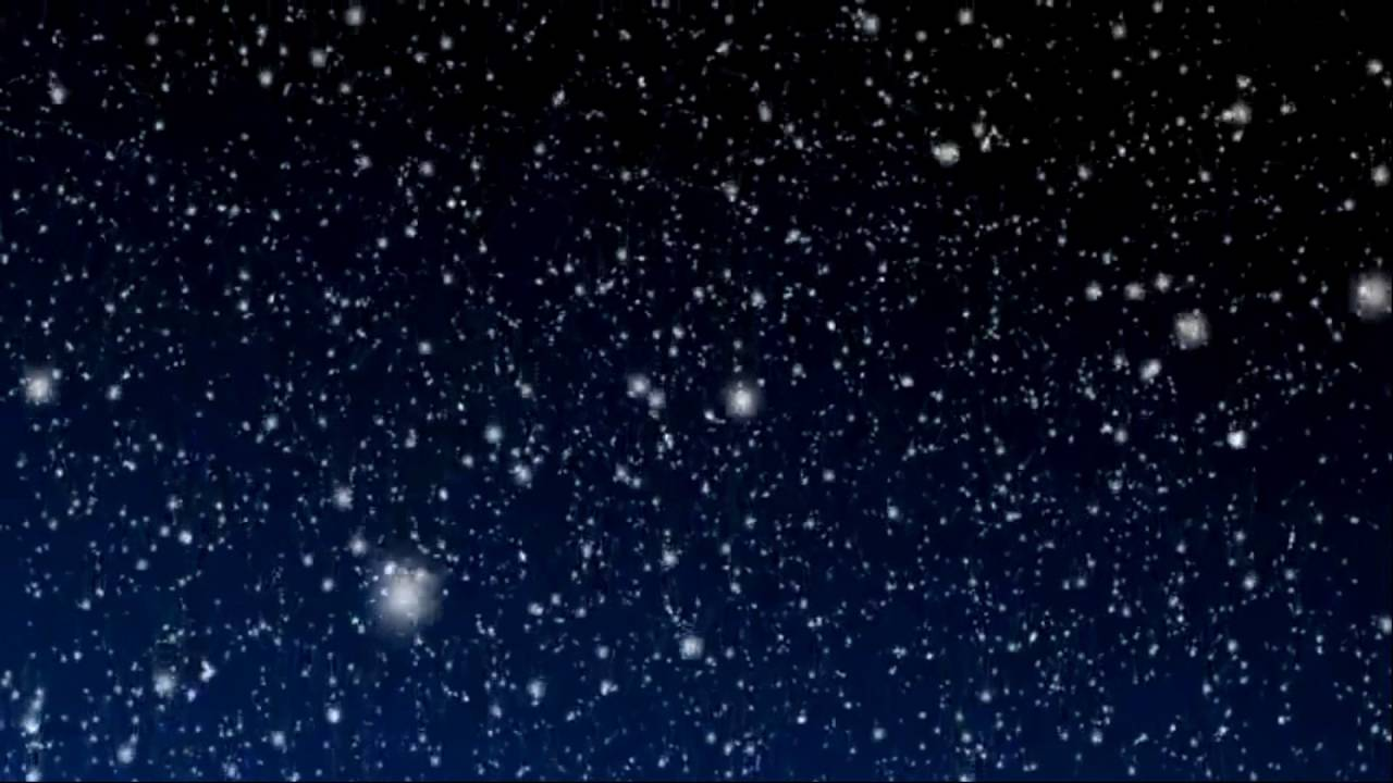 Falling From Stars Wallpaper Snowy Blue Night Background Motion Video Loops Hd Youtube