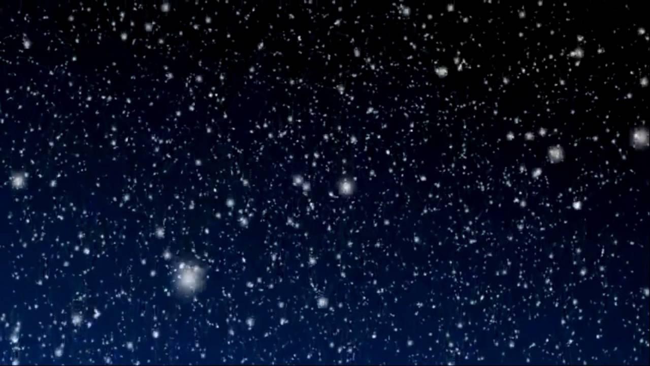 Snow Falling Desktop Wallpaper Snowy Blue Night Background Motion Video Loops Hd Youtube
