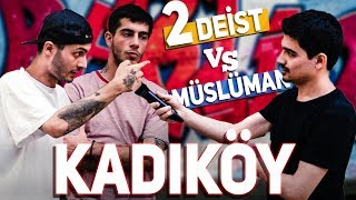 A debate between 2 Deists and 1 Muslim man in Kadıköy! - Did they say the shahada? [Eng subtitles]