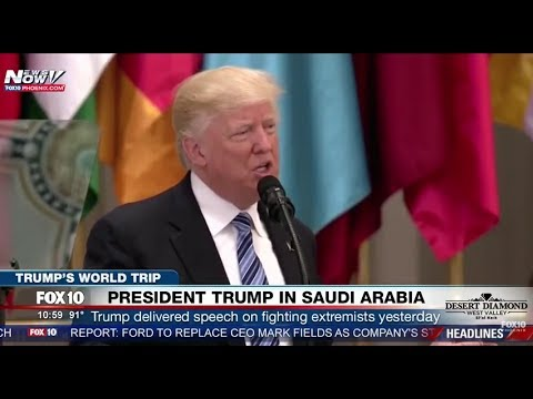 HISTORIC: President Trump Visits Saudi Arabia on First International Trump, Gives Speech (FNN)
